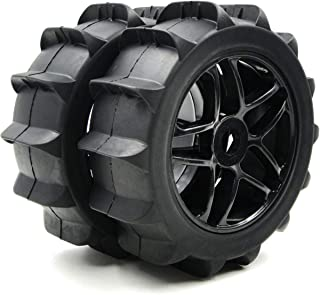 2pcs RC 1/8 Paddles Buggy Tires Snow Sand Tyres Hex 17mm Wheels For RC 1:8 Off Road Buggy Car
