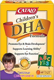 CATALO - Children's DHA Formula, Brain Eye Development to Support Learning with 470mg of Omega 3 Fatty Acid, DHA, and EPA ...