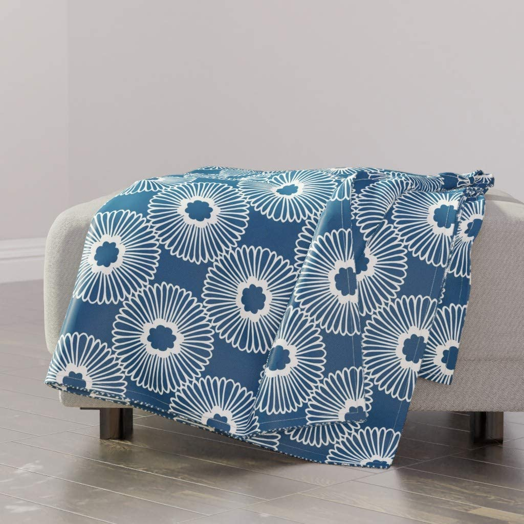 wholesale Financial sales sale Roostery Spoonflower Throw Blanket Mirror Contemporary Nature L