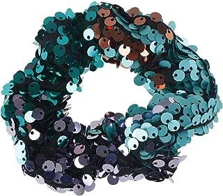 1PC Girls Two-tone Mermaid Sequin, Elastic Hair Bands Ponytail Holder Scrunchies Tie, Hair Scrunchies Sparkly Sequins, Hair Rubber Band Headband Women Hair Accessories