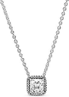 Pandora Women Silver Pendant Necklace - 396241CZ-45