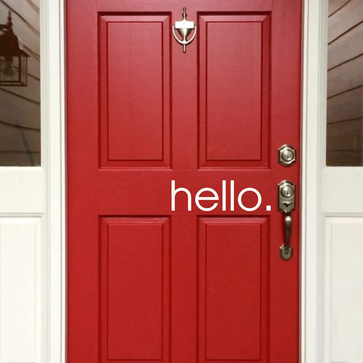 New Free Shipping Back40Life - Hello Front Vinyl Max 41% OFF Decal E-005d Door