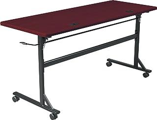 MooreCo Essentials Flipper Training Table 60x24 Mahogany Top Black Base