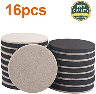 4pk Super Sliders Round Felt Bottom Pads for protecting Hard Floors 89mm