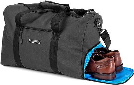 Sac de sport élégant Ronin Sac de voyage avec compartiment à chaussures et porte-bouteille d'eau | Sac à main de 38 litres 55x40x20 | Sac de week-end en toile de haute qualité pour homme et femme