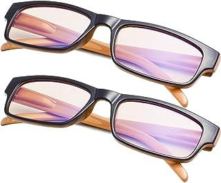 2-Pack Blue Light Filter Reading Glasses for Women Men,Computer Readers Anti Glare Blocking UV