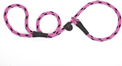 """product image for Mendota Products Slip Lead,  1/2"""" X 6', Black Ice Raspberry, Dogs"""
