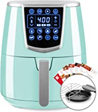 Best Choice Products 4.2qt 8-in-1 Digital Air Fryer Cooking Appliance w/ 8 Presets, Touch Screen Display, Adjustable Temp, Timer, Non-Stick Basket, Multifunctional Rack, Tongs, Recipes, Seafoam Blue