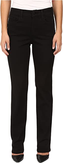 NYDJ Petite Petite Marilyn Straight Jeans in Luxury Touch Denim in Black