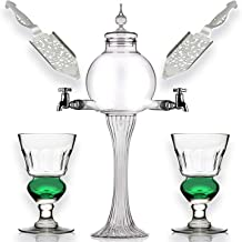 Absinthe Set - Glass Pearl Bubble Fountain Dripper with 2 Spouts, Absinthe Dripper Set, Complete with 2 Reservoir Pontarli...