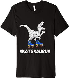 Skate Dinosaurs Roller Skating Rink T-Rex Roller Skater Premium T-Shirt