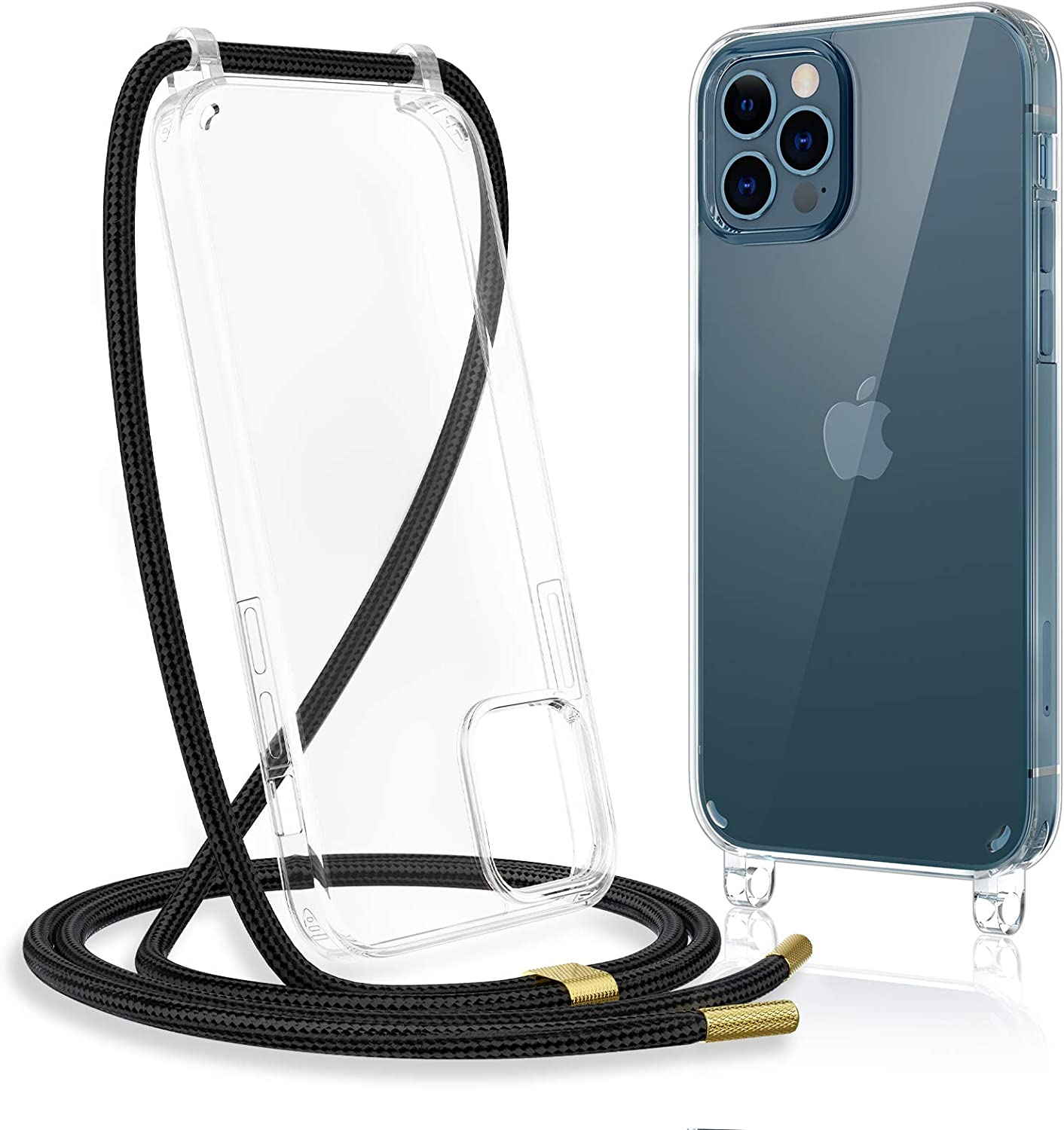 Clear iPhone 12 Pro Max Case with Crossbody Strap Adjustable Neck Lanyard Clear with Design Shockproof Protective Case for iPhone 12 Pro Max 6.7 inches Caka Clear Case for iPhone 12 Pro Max