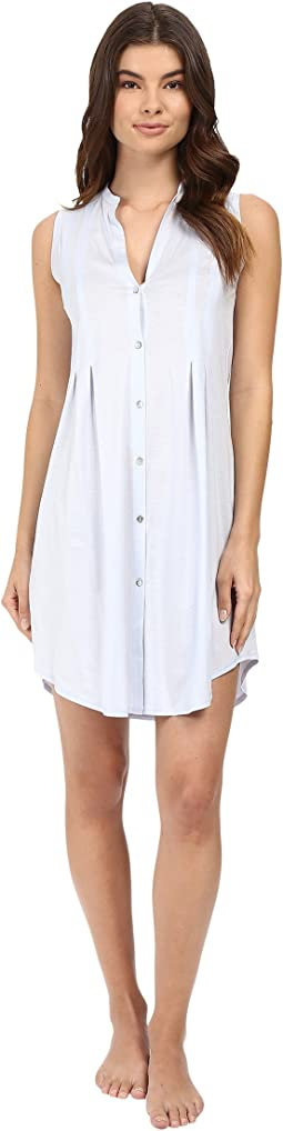 Cotton Deluxe Button Front Tank Nightgown
