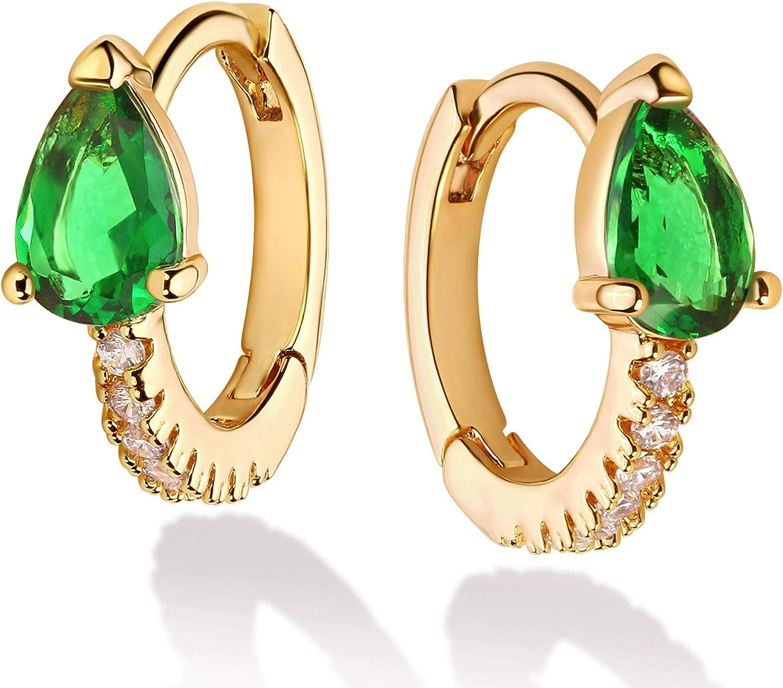 Mevecco Women Gold Huggie Hoop Earrings 18K Gold Plated Ear Stud