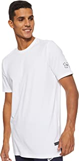 Under Armour Men's Ua Baseline Short Sleeve Long Line T-Shirt, White (White/Black), Medium