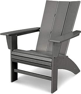 POLYWOOD Modern Adirondack Adirondack Chair, Slate Grey