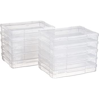 """Inc IRIS USA Thick 17/"""" X 15 /& PJC-300 Portable Project Case Clear Clear SBC-450 12 x 12 Portable Project Case"""