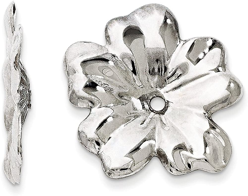 Finejewelers 14k White Gold Floral Earring Jackets