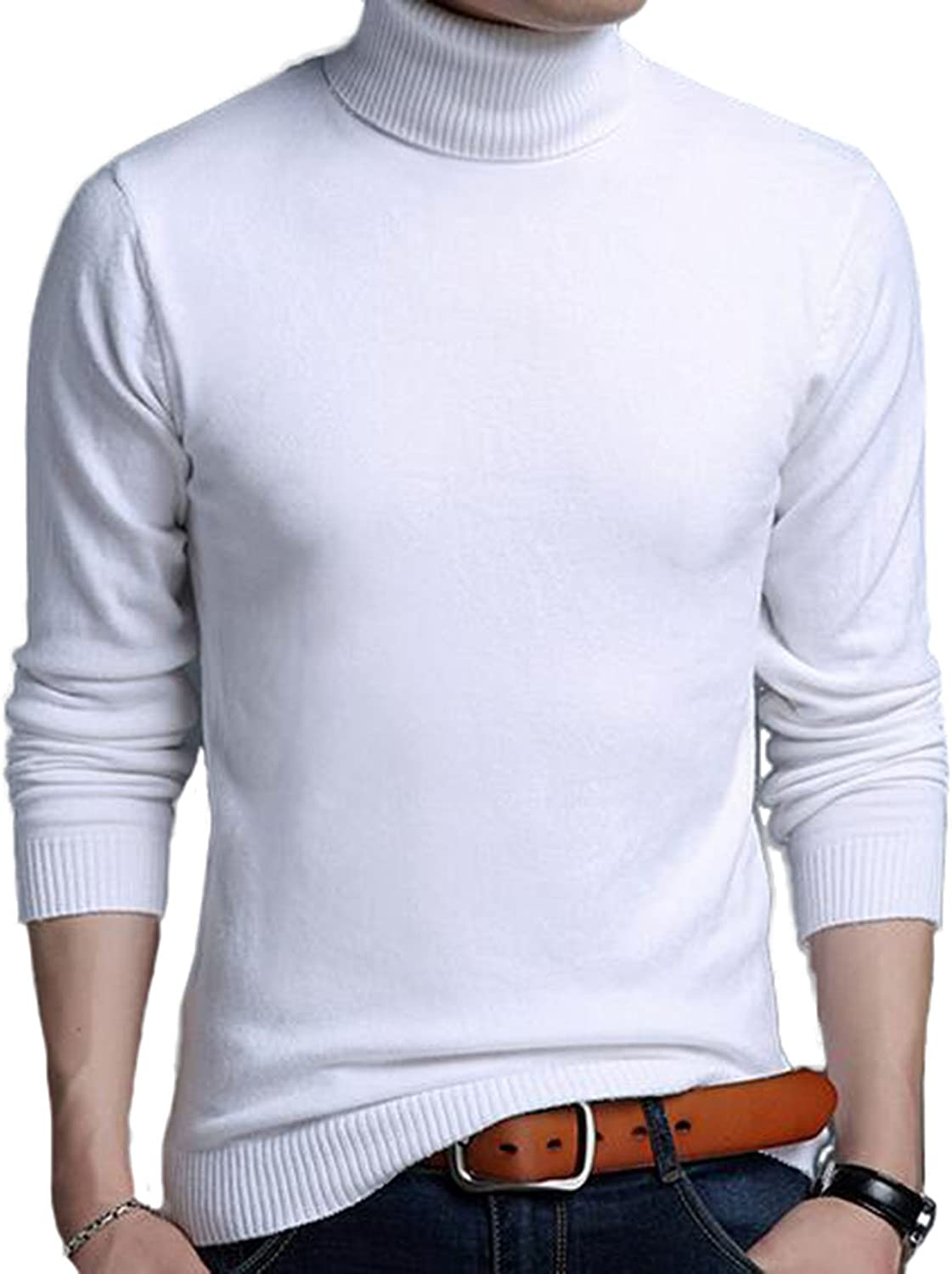 DD.UP Mens Slim Casual Warm Long Sleeves Turtleneck Max 77% OFF service Knitted Wool
