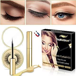 Magnetic Eyeliner, Magnetic Eyelashes With Eyeliner, Magnetic Eyeliner and Lashes Magnetic Eyelashes Liner Eye Liner Kit Magnetic Eyelash Kit For 3D Magnetic False Eyelashes Reusable