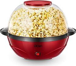 Popcorn Machine, 2 in 1 Popcorn Popper maker, 6 Quart/24 Cup, Nonstick Plate, 850W Electric Stirring with Quick-Heat Techn...