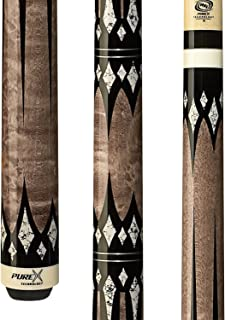 Purex HXT-65 Antique Birds-Eye Maple with Black and White Daggers and Diamonds Technology Pool Cue