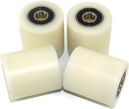 Pack de 2 ruedas de puerta corredera 59 mm de di/ámetro ranura redonda de acero fabricado en la UE