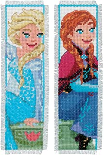 Disney Frozen 'Sisters Forever' Bookmarks Counted Cross Stitch Kit (Set of 2)