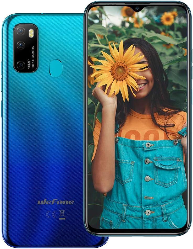 "Unlocked Smartphones Ulefone Note 9P Android 10 Unlocked Cell Phone Octa-core 4GB + 64GB ROM, 16MP Triple Rear Camera + 8MP Front Camera, 6.52"" HD+ Screen 4500mAh Battery Dual SIM 4G Unlocked Phones"