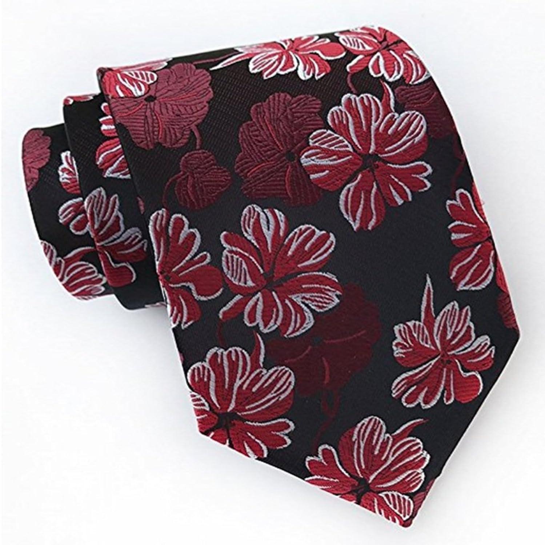 Flower Men's Tie Business Casual Dinner Wedding Groom Upscale Joker Tie