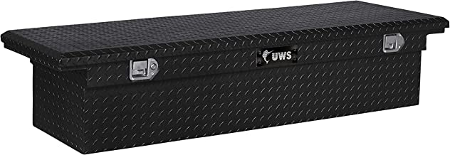 UWS TBS-72-LP-BLK Black Single Lid Low Profile Aluminum Toolbox with Beveled Insulated Lid