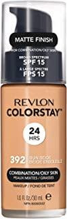 Revlon ColorStay Liquid Foundation For Combination/oily Skin, SPF 15 Sun Beige, 1 Fl Oz