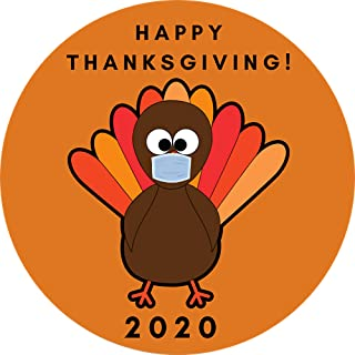 Thanksgiving Magnet, Turkey Magnetic Decal Funny 2020 Decoration for Car, Fridge, Whiteboard, 5 1/2 Inch