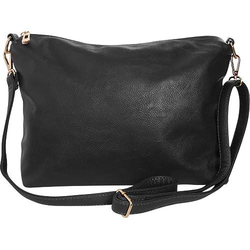 Humble Chic Crossbody Bag - Vegan Leather Satchel Messenger Hobo Handbag Shoulder Purse