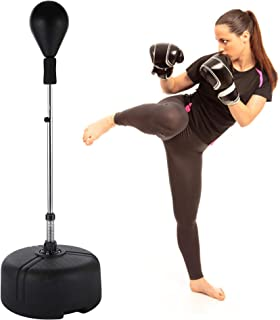 Boxing Punch Bag, Adjustable Freestanding Punching Bags Speed Ball ,Boxing Punching Bag with Stand,Reflex Punching Bag for Teenagers and Adults, for Exercise Release Stress Lose Weight(US STOCK) …