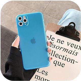 ファッショナブルなシンプルなプレーン超薄型マット電話ケースFor iphone 11プロマックスX XR XSマックス6 6 s 7 8プラスキャンディーカラーカップルクリアバックカバー-T4-For iphone 11Pro Max