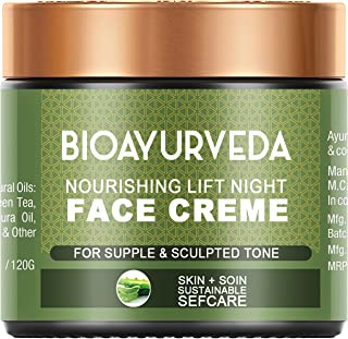 Bioayurveda Nourishing Lift Night Face Cream   Helps to Reduces Fine Lines, Wrinkle, Age Spots, Blemishes Unique Blend 7 O...