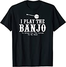 Funny Banjo Player Shirt Voices in Head Bluegrass Music Gift