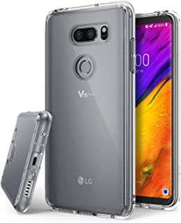 Ringke Fusion Compatible with LG V35 ThinQ Case, Scratch Protection Phone Cover for LG V35 ThinQ - Clear