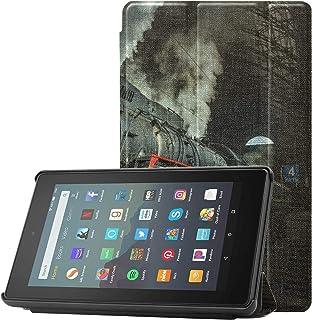 Pokrowiec ochronny do Kindle Fire 7 stary parownik lokomotywa stare pociągi Kindle 7 etui do tabletów Fire 7 (9. generacj...