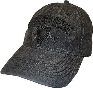 Black Distressed 3D Harp Baseball Cap