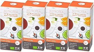 Bistrotea Tee-Kapseln - Bio Earl Grey, 4er Pack, NespressoMaschinen kompatibel, 80 g