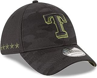 New Era Authentic Texas Rangers Black 2018 Memorial Day 39THIRTY Flex Hat