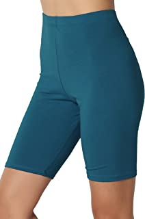 Mid Thigh Stretch Cotton Span High Waist Active Bermuda Short Leggings