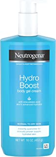 Neutrogena Hydro Boost Hydrating Body Gel Cream with Hyaluronic Acid, Non-Greasy and Fast Absorbing Body Lotion for Normal...