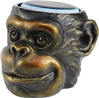 Monkey Statue Crafted - Smart Speaker Stand Holder for Echo Dot 3rd Generation Speakers Holder Best Gift Idea for Smart Home, Gold