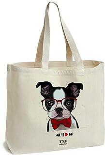 e9d06b3af3 Tote bag Sac de coton avec fond - Imprimé cabas tote bag a usages divers -  shopping, sports, livres - cadeau femme - Sac cabas en toile - Grand,  solide, ...