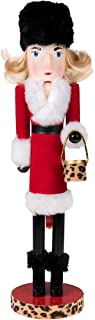 """Clever Creations Lady in Red Nutcracker Collectible Wooden Christmas Nutcracker 
