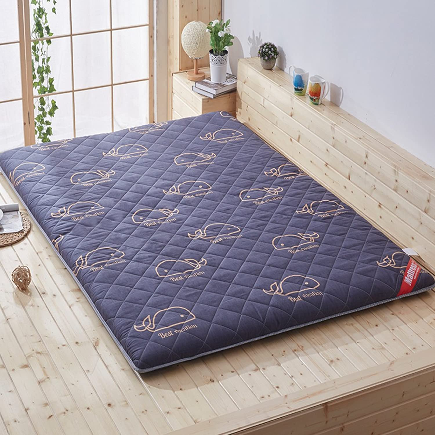 Japanese Floor Futon Mattress, Breathable Mattress Mat Topper Pad Bed Roll Bay Window Cushion for Stdudent Dorm Home Meditaion -a Full