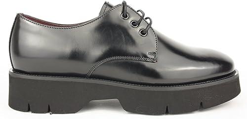 FRAU femmes , Chaussures de ville à à lacets pour femme Noir noir